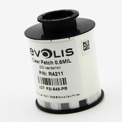 Evolis R4211 0.6 mil Clear Patch Laminate - 200 imprints