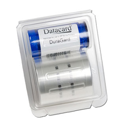 Datacard 538619-011 1.0 mil Clear DuraGard Laminate w/ Smart Card Cut-Out - 600 imprints